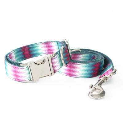 Handcrafted Dog Collar Leads Combination Multicolor