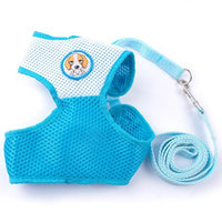 Mesh Dog Harness and Leash Set Small Dog Vest Harness