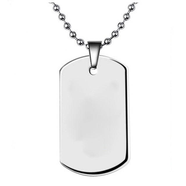 Military Army ID Tag Badge Pet Dog Tag Pendant