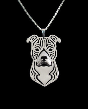 fashion pit bull  necklace Pet dog  jewelry