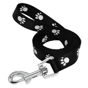 Paw Print Dog Puppy Leash Pet Walking Leash Leads Adjustable 3 Colors 3 Sizes Nylon Material