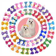 Pet Puppy Cat Dog Hair Bows with Rubber Band