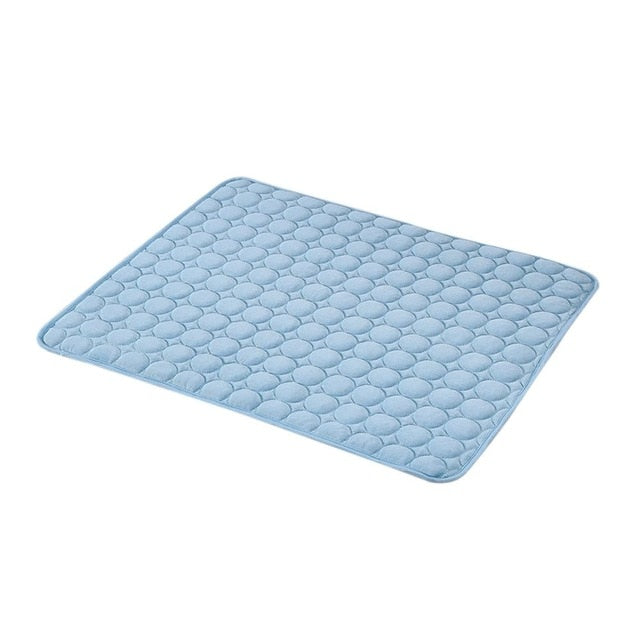 Summer Pet Cooling Mat Ice Silk Moisture-proof Dog Mat Cooler Cool Mattress