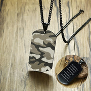 Air Force Camouflage Accent Dog Tag Pendant Necklaces