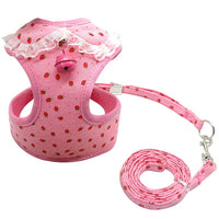Soft Mesh Pet Puppy Dog Cat Harness Leash Set