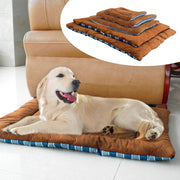 Winter Dog Cushion Mat Soft Puppy Sleep Bed Kennel Warm Thick Pet Blanket Pad Matress Sofa