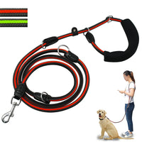 Reflective Dog Leash Hands Free Non-slip Dogs Leads