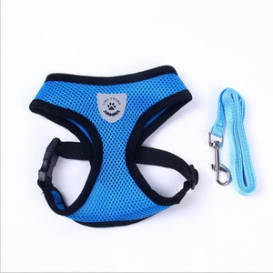 1Set S~L Dog Harness & Leash for Pet Chest Strap Lead Rope