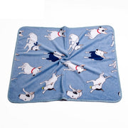 Coral Fleece Dog Blanket Bull Terrier Printed