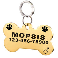 Stainless Steel Dog ID Tag for Dog Collar Accessories Personalized  Pet ID Tag