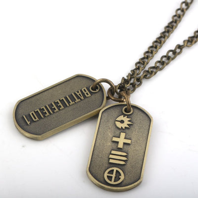 Dog Tag badges Military Card Necklaces Pendants