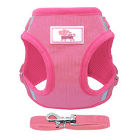 Reflective Dog Vest Harness and Leash Set