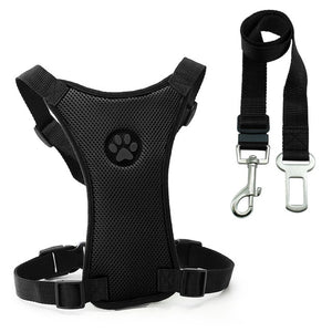 Car Seat Dog Harness and Leash Seat Safety Vehicle
