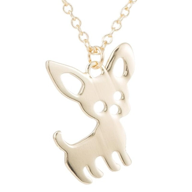 Cute Chihuahua Pet Pendant Necklaces for Women