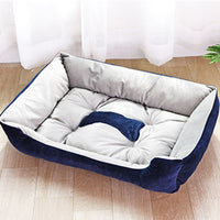 Fashion Plush Bone Dog Bed For Large Dogs Labrador Golden Retriever Dog Blanket