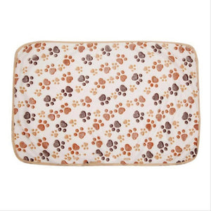 Comfortable Pet Bed Mats Sleep Flora Paw Print Dog