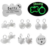 Custom Pet Id Tags Stainless Steel Personalized Dog  Tag