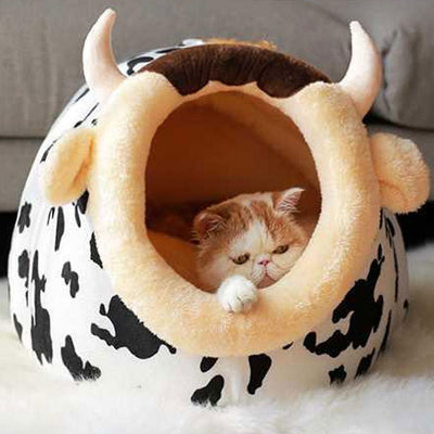 Soft Warm Pet Dog Bed House for Small Dogs Winter Warm