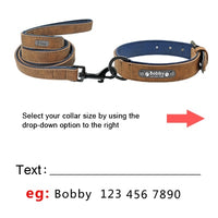 Custom Dog Collars Leather Personalized Pet Dog Tag Collar