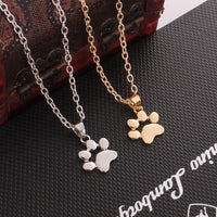 Dog Claw Bff Necklace  Gold Chain Couple Necklace