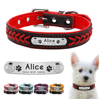 Drop Shipping Personalized Dog Collar Customized Dog Collars Padded