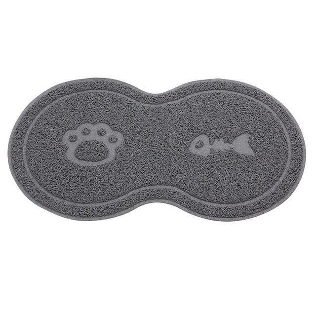 Dog Pet Feeding Water Food Dish Tray Wipe Clean Floor