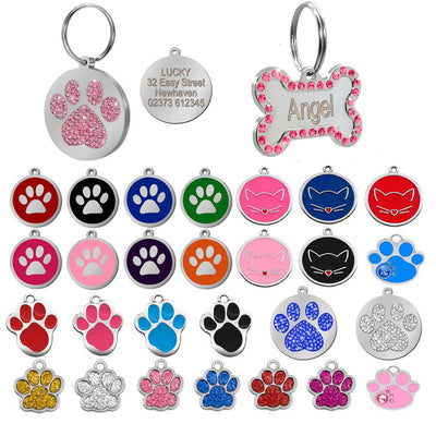Dog Tag Engraved Custom Pet Dog Collar Accessories