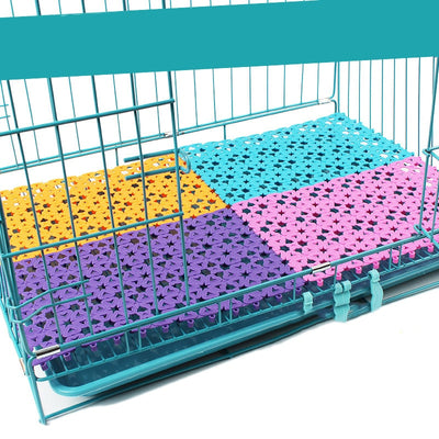 Pet Mats Plastic Spliced Pads with Heart Hole