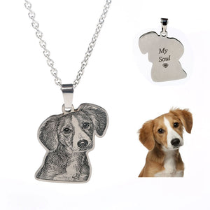 Personalized Pet Dog Photo Pendant Necklace