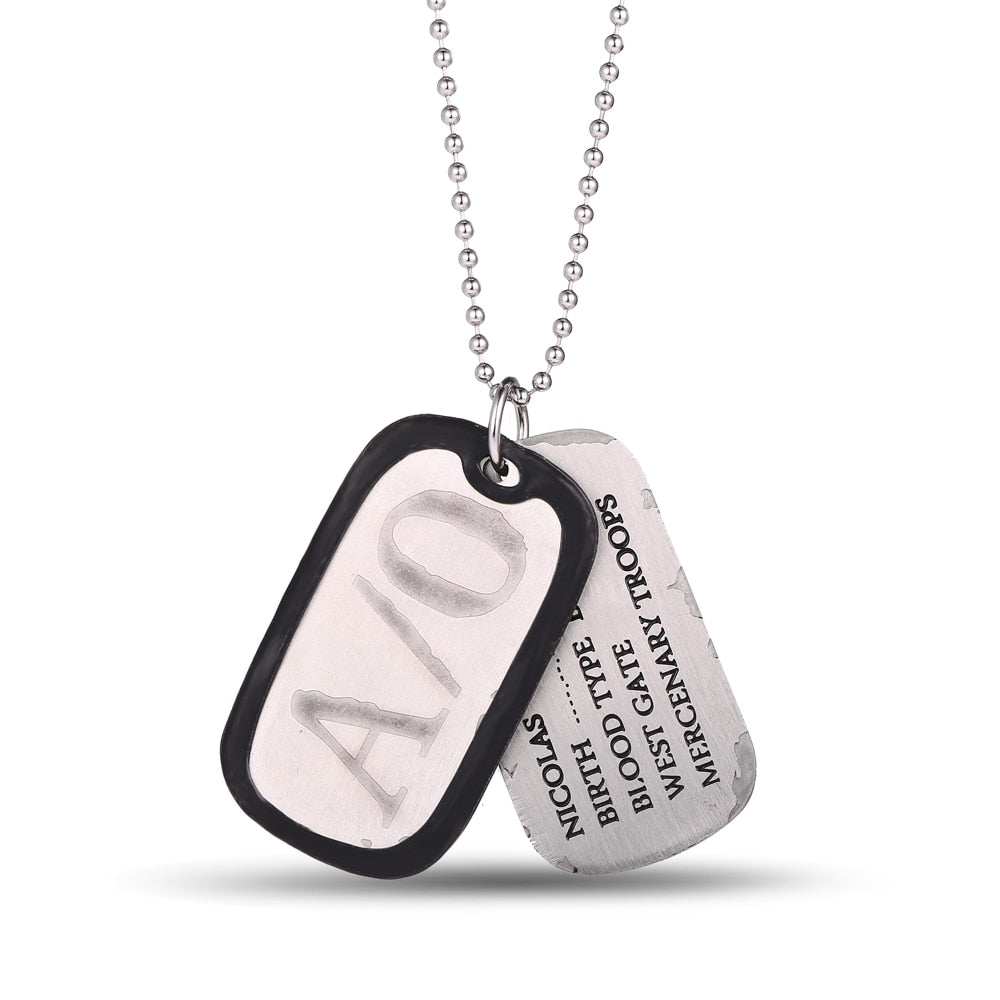 MS JEWELS Gifts Jewelry Anime A/O GANGSTA Nicolas Brown Dog Tags Pendant
