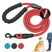 Nylon Dog Leash Large Dog Training Leash Reflective Pet