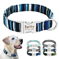 Dog Collar Nylon Personalized Custom Dog ID Tag Collar