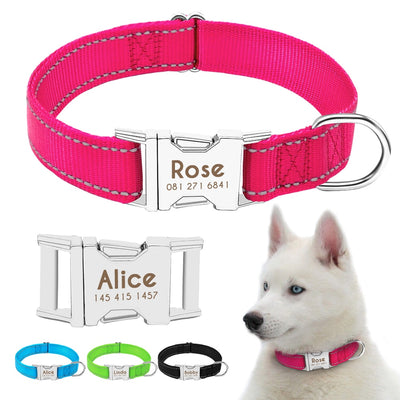Personazlied Dog Collar Nylon Reflective Dog Pet Collars