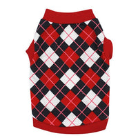 Pet Dog Vest British Plaid T-Shirt Spring/Summer Dog Shirt Pet