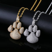 Cute Pets Dogs Footprints Paw Necklace