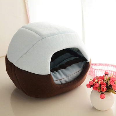 2 Uses Foldable Soft Warm Pet  Bed Dog