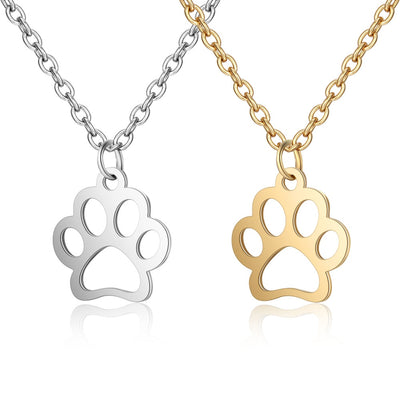 Dog Footprint Pendant Necklace