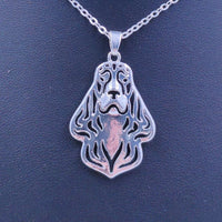 Cocker Spaniel Necklace Dog Animal Pendant Gold Silver Plated Jewelry