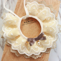 dogs handmade lace bow bell