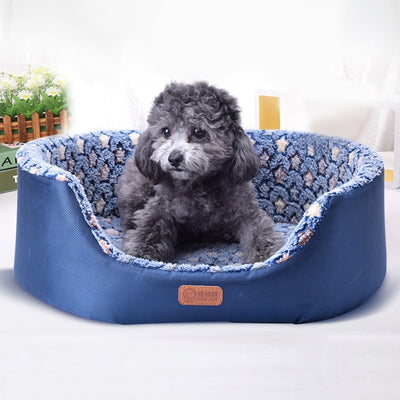 All Season Pet Dog Bed Detachable  Comfortable Pad Sofa Mat Coral Fleece Bed