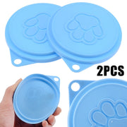 Dog Storage Top Cap Food Can Tin Cover Lid Pet Puppy Food Can Lid Reusable Pet Supplies Random Color