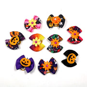 10pcs Fall Pet Supplies Halloween Pet Dog Hair Bows