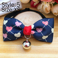 Pet Supplies Dog Collar Tie With Bell Adjustable Puppy Necklace Necktie