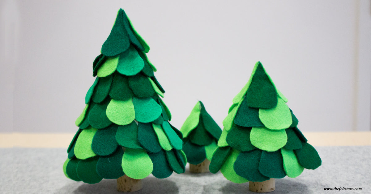 DIY Mini Felt Trees