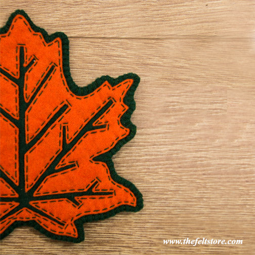 DIY Felt Trivet- Maple Leaf