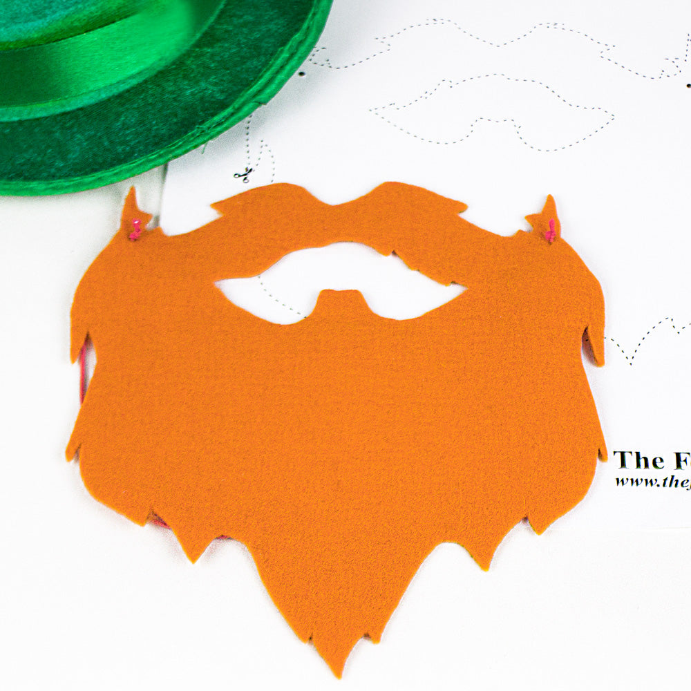 DIY Felt Irish Beard for St. Patrick's Day {Template}