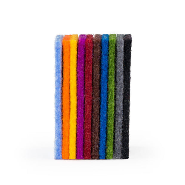 100% Wool Designer Felt Sample Bag - 2mm Thick, Solid Tones, 10 Colors - FINAL SALE