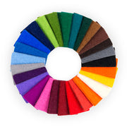 100% Wool Designer Felt Sample Bag - 3mm Thick, Solid Tones, 26 Colors