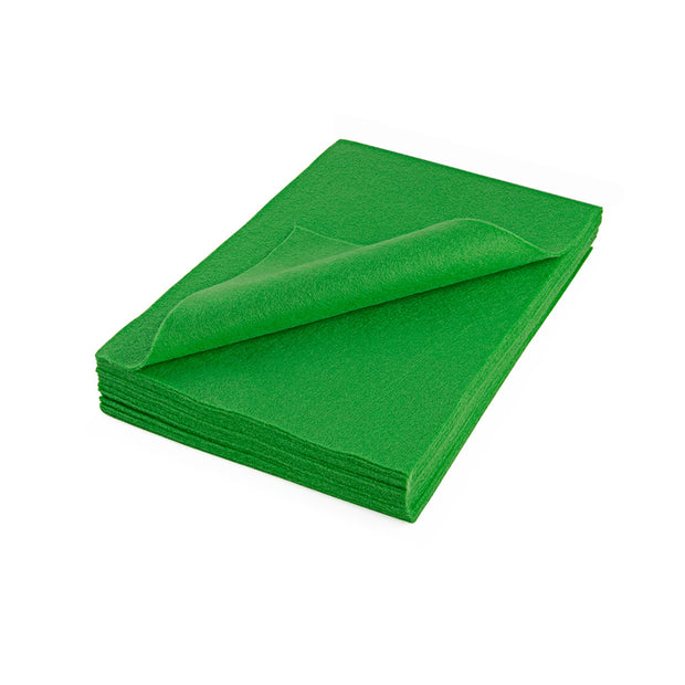 "Acrylic Craft Felt Sheets - 9"" Wide x 12"" Long, Apple Green"