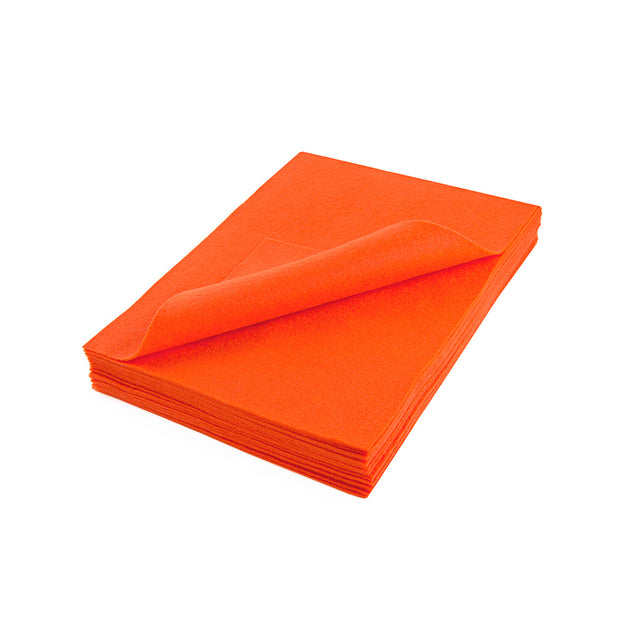 "Acrylic Craft Felt Sheets - 9"" Wide x 12"" Long, Orange"